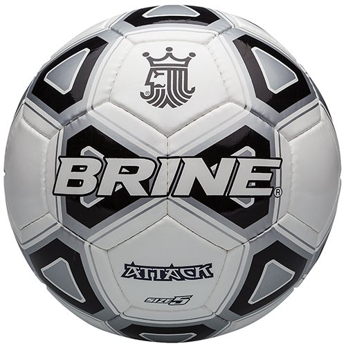 - Brine Attack Soccer Ball, Black, Size 5
