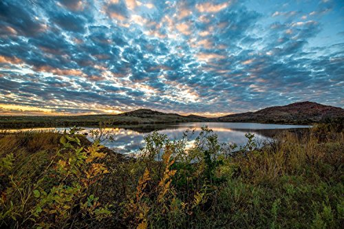 Wichita Mountains Photography Art Print - Picture of Lake in Southwest Oklahoma in Autumn Nature Decor Wall Artwork for Home Decoration 5x7 to 30x45