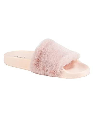 2667d9370e3 Qupid Faux Fur Sandals