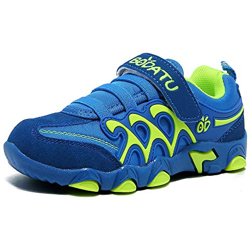 - GUBARUN Kids Running Sport Shoes Comfortable Athletic Sneakers Casual Trainers for Boys Girls(Blue/Green,1)