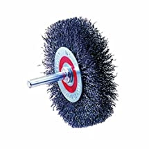 "Walter 13C175 Crimped Wire Mounted Brush, Stainless Steel 304, 3"" Diameter, 0.0118"" Wire Diameter, 12000 Maximum RPM"