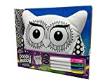 2 IN 1 CHILDRENS KIDS COLOUR DOODLE OWL PET BUDDY CUSHION PILLOW TEDDY TOY