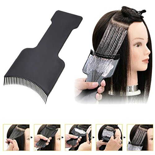 Professional Fashion Hairdressing Hair Applicator Brush Dispensing Salon Hair Coloring Dyeing Pick Color Board Hair Styling Tool ()