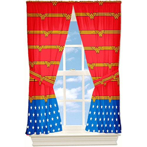 Window Panel Wonder Woman Set of 2 Panels