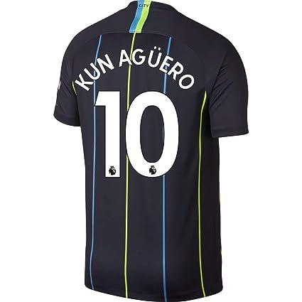 c5e90ef2fa9 NIKE Manchester City Away Kun Agüero 10 Jersey 2018 2019 (Authentic EPL  Printing)