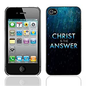 YOYO Slim PC / Aluminium Case Cover Armor Shell Portection //CHRIST IS THE ANSWER //Apple Iphone 4