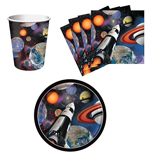 Space Party Supplies (Space Blast Snack Pack Kit for 16)