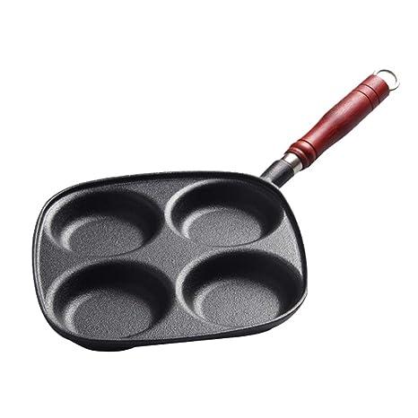 Baking tools El Hierro Fundido de Cuatro Agujeros Molde Tortilla, sartenes antiadherentes hogar, Tortilla