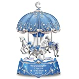 Carousel Music Box with Sentiment for Granddaughter Lights Up by The Bradford Exchange