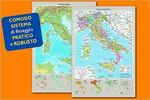 Cartina Italia Politica Aggiornata.Italia Fisica E Politica 9788869852114 Amazon Com Books