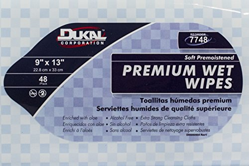 Amazon.com: Dukal 7748 Wet Wipes, Refill, Soft Pack, Premium, 40 g, 9