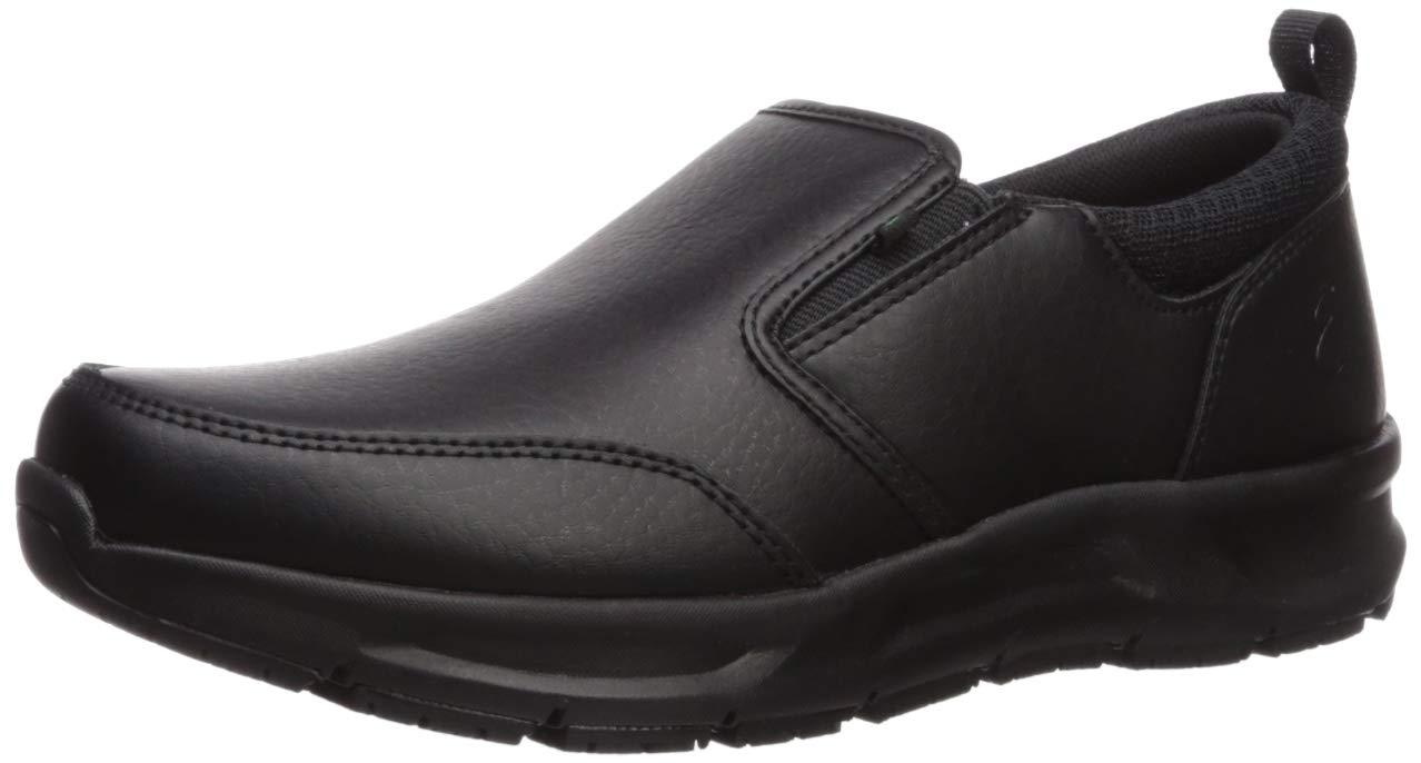 Emeril Lagasse Women's Quarter Slip On Tumbled Food Service Shoe, Black Leather, 7.5 M US