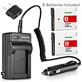 Kastar Battery (2-Pack) and Charger for Sony