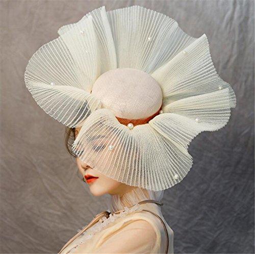 Pinza Court Diadema Elegante Styling shop Hat Fascinator He Mujeres blanco Party Cocktail De Retro Pelo Rgzn0Cq