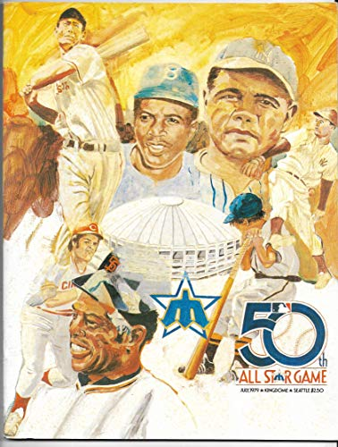 1979 MLB All-Star Game In Seattle Official Game Program Unscored (1979 Mlb All Star Game)