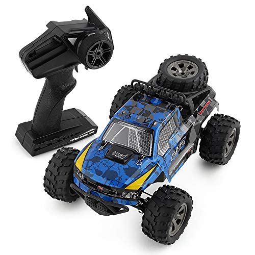 (YRE 1:18 Pickup Remote Control SUV, Boy Kids Remote Control car Bigfoot Climbing car, 2.4G Rechargeable Electric Toy,Blue)
