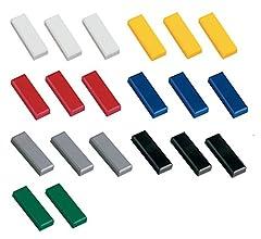 K/ühlschrankmagnet Magnet Magnetwand Haftmagnete f/ür Whiteboard 10x Faxland Magnete rechteckig Blau 54x19 mm Magnettafel