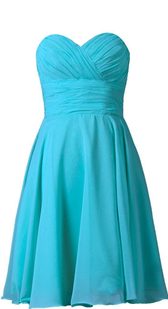 VaniaDress Women Sweetheart Short Bridesmaid Dress Prom Party Gowns V277LF Turquoise US18W