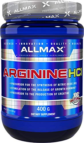 ALLMAX Nutrition 100% Pure Arginine HCI Powder, 400g