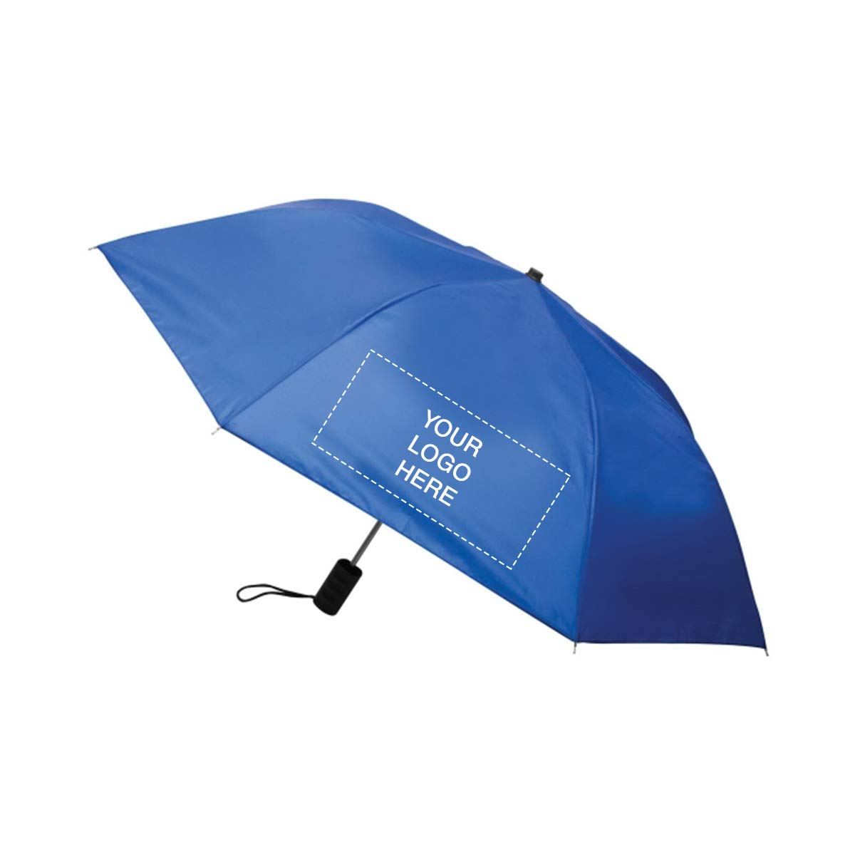 40'' Economy Auto Open Folding Umbrella by Promo Direct | 25 QTY | 10.26 Each | Customization Product Imprinted & Personalized Bulk with Your Custom Logo