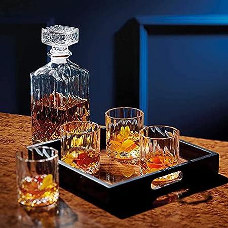 WANGLX Decantador de Vino Dispensador de Botellas Licor Copa Vino Vaso Cristal El Hogar Botella Vino Vacía Decantador Jarra de Almacenamiento Traje Juego Whisky,C