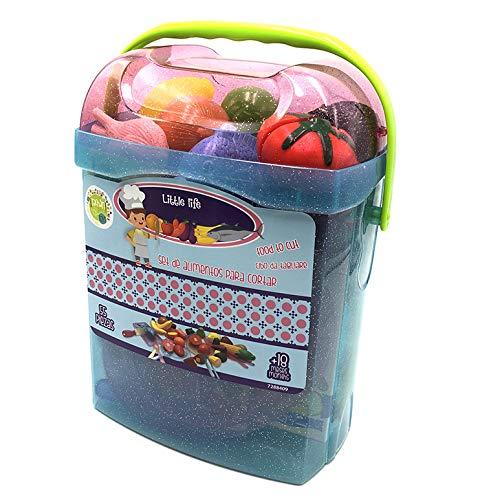 Tachan 7288409 Tachan azul Set alimentos de cortar 55 piezas en cubo transportable