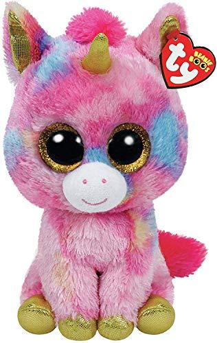 "Ty Beanie Boo Fantasia The Colorful Unicorn 10"" Medium Size"