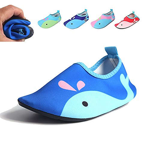 Boys Wide Water Shoes - HLM Water Shoes Blue Red Pink Navy For Kids Baby Toddler Infant Youth Kid Beach Pool Swimming Running Tennis Hiking Diving Walking Athletic Size 11 13 9 10 12