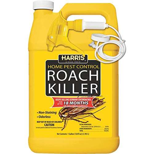 Harris Roach Killer, Liquid Spray with Odorless and Non-Staining 12-Month Extended Residual Kill Formula (Gallon) (Best Pills For Staying Hard)