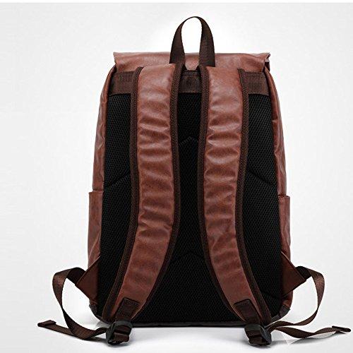 Bolso mochila de Piel para mujer marrón