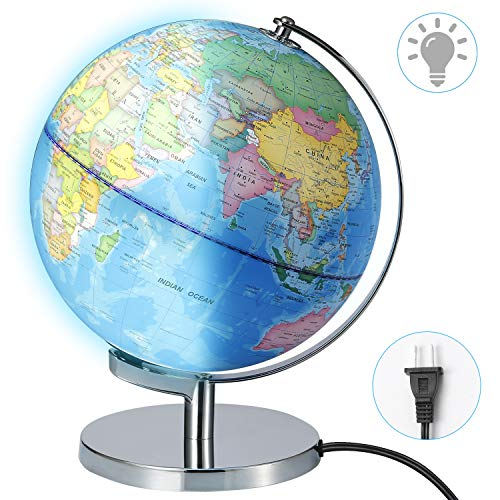 Illuminated World Globe lamp- Larger Size 12
