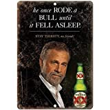 Dos Equis Beer Most Interesting Man in The World Old Style Beer Vintage Looking Bar Pub Coffee House Metal Tin Sign 8X12 Inches