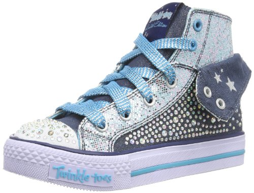 Skechers ShufflesRock n' Beauty, Mädchen Sneakers, Blau (DNTQ), 29 EU