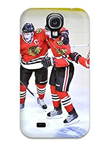 High Quality Shock Absorbing Case For Galaxy S4-chicago Blackhawks (5)