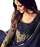 Reddymade New Designer Indian/Pakistani Bollywood Anarkali Suit Vf (X-LARGE-44, Blue)