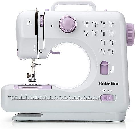 Máquina de coser por Galadim (12 puntos, 2 velocidades, luz LED de ...