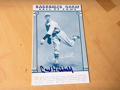 CARL HUBBELL Signed 4