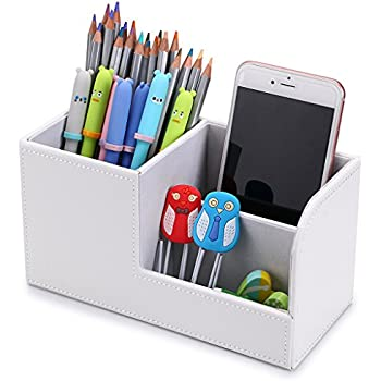Desk Accessories & Organizer Objective 7 Storage Compartments Multifunctional Leather Office Desktop Organizer Business Card Pen Pencil Mobile Phone Holder Storage