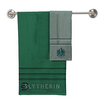 Robe Factory Harry Potter Slytherin una Toalla de baño Toalla de Mano 2 Piezas: Amazon.es: Hogar