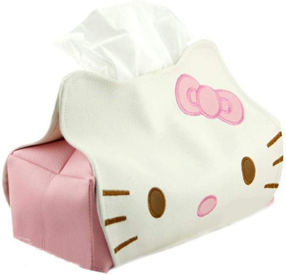Yun-hangbaihuodian Sostenedor del Tejido de la Moda 1pc dise/ño Creativo de la Caja del Tejido de Papel Linda Dise/ño Inicio Toalla Tubo de Hello Kitty Caja de pa/ñuelos LB 261