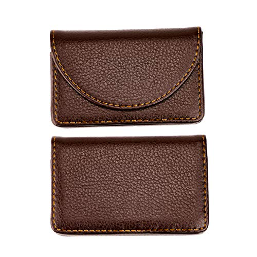 025c848dbd54 MaxGear Leather Business Card Holder Case for Men or Women Name Card Case  Holder with Magnetic