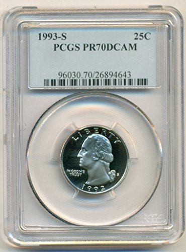 1993 S Washington Clad Proof Quarter PR70 DCAM PCGS