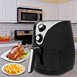 ZENY Electric Air Fryer 1500W 3.7QT Cooking Tool For Healthy Oil Free Cooking w/Time & Temperature Control, Non-Stick Coating