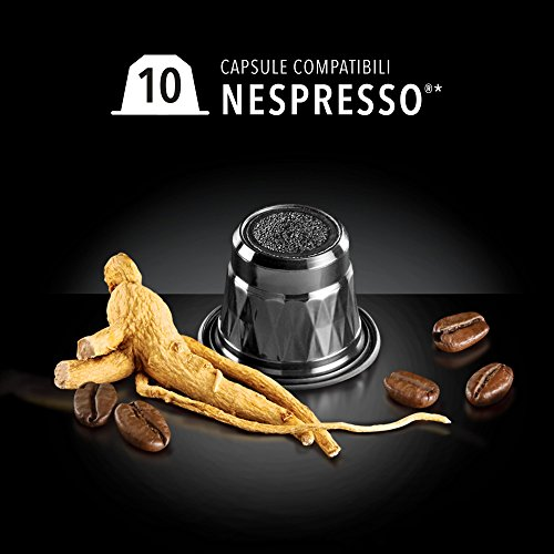 Café con Ginseng - 10 Cápsulas al Ginseng Nespresso®* - King Cup Ginseng Coffee: Amazon.es: Alimentación y bebidas