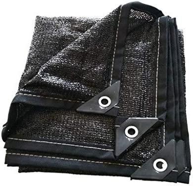 JINHH温室シェードネット、サンシェイドパーフェクトサンスクリーンシェード布でボタンホールブラック工場サンプロテクション防風シェードネット