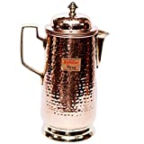 Signature Metal pure Copper Jug pitcher kettle look stylish and heavy gauge 1500 ml with lid