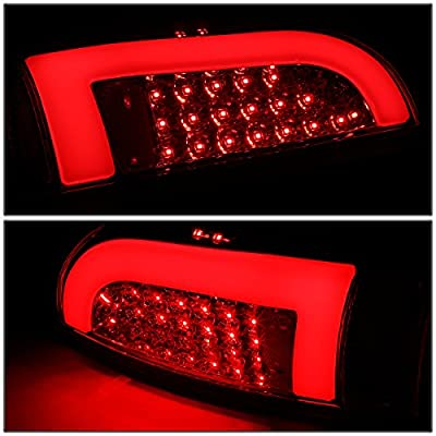 DNA Motoring TL-TTAC05-LED-3D-CH-RD Pair 3D LED Bar Tail Light Red [for 05-15 Tacoma]: Automotive