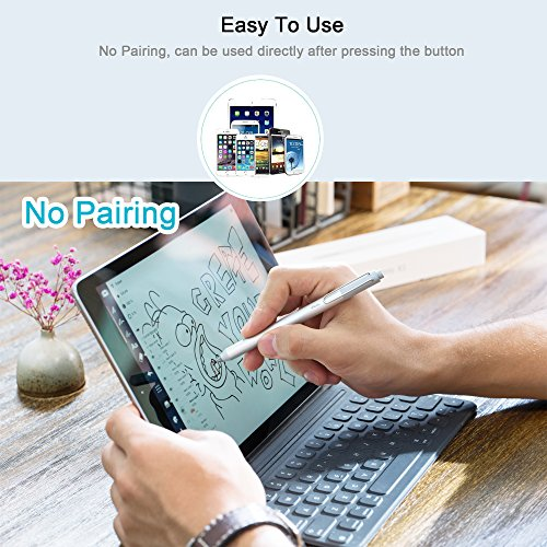Longogo Stylus Pen For Touch Screens - iPens X1 (2017 New Design) Smart Replacement Active Drawing Stylus Pen For iPad, iPhone, Including 10 Hours Constant Working by Longogo (Image #4)