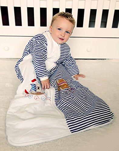 Schlummersack Kinder Winterschlafsack Langarm 3.5 Tog - Pirat - 150 cm/6-10 Jahre