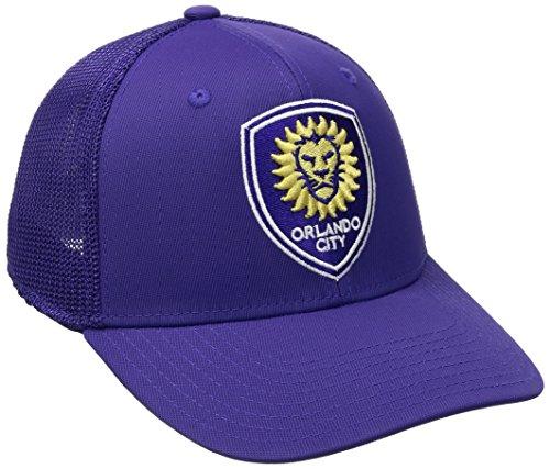 MLS Orlando City SC Adult Men MLS SP17 Fan Wear Tactel Trucker Flex Cap,S/M,Purple